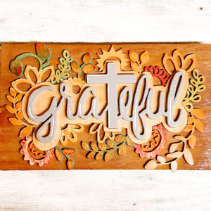grateful for the cross wood sign