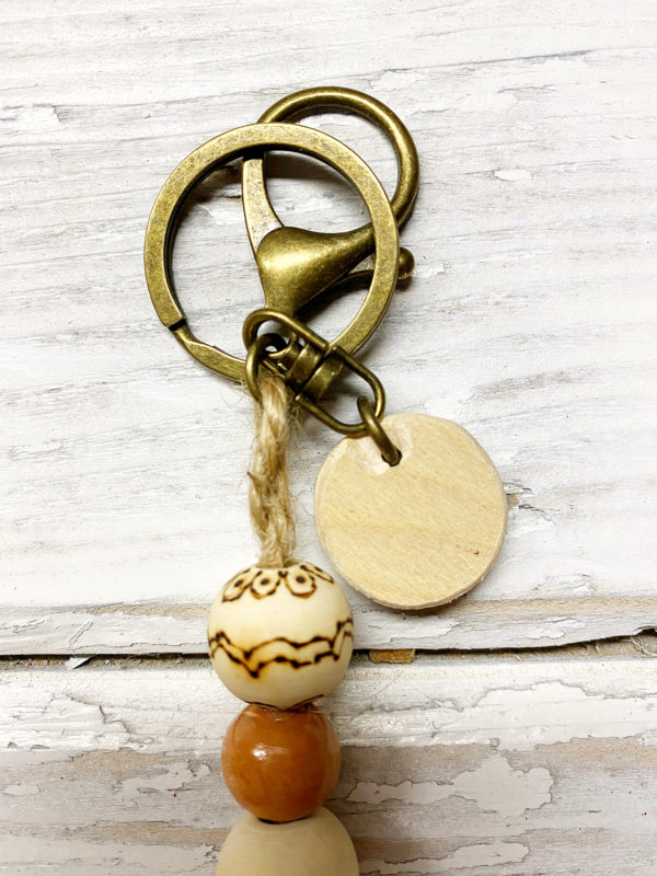 boho cross keychain 2 antique bronze finish