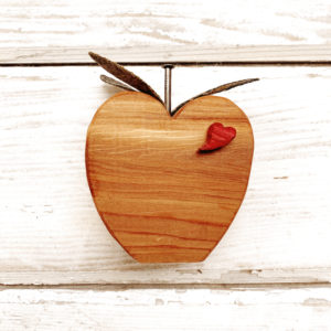 Cedar wooden apple gift for teacher